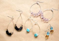 5-Minute Hoop Earrings 3 Ways   You are going to love how easy and fun making these hoop earrings are!