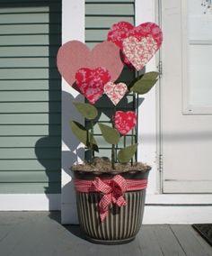 Blumen zum -Valentinstag-Geschenkidee selber machen