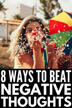 If you want to know how to have a positive mindset, these tips and ideas will teach you how to beat negative thoughts for a happier, healthier you! Positive Thinker, Positive People, Positive Words, Positive Mindset, Positive Affirmations, Negative Words, Negative People, Negative Thoughts, Positive Thinking Exercises