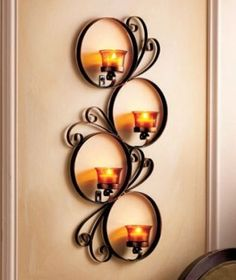 Metal Wall Art Candle Holder - Foter