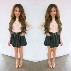 Dawne Aliza: Top-Forever21 Skirt-Asos