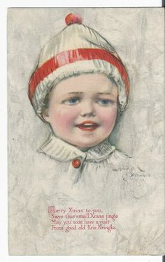 Beautiful 1918 Merry Christmas Postcard Signed Dowell by COLLECTORSCENTER on Etsy