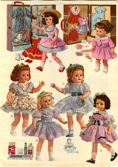 1956 ADVERT 9 PG Doll American Character Horsman Ideal Saucy Walker Lucy Ricky
