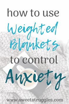 Weighted blankets have SO many health benefits. If you suffer from anxiety, I would highly recommend getting one. Read on to see how I use mine daily and why I absolutely love it! How To Control Anxiety, Deal With Anxiety, Anxiety Tips, Social Anxiety, Stress And Anxiety, Anxiety Help, Leiden, Weighted Blanket For Anxiety, Understanding Anxiety