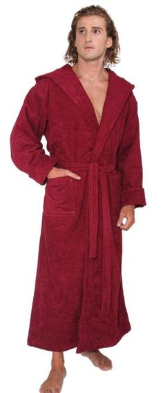 304eab7a45 Arus Men s Hood n Full Ankle Length Thick Hooded Turkish Cotton Bathrobe at  Amazon Men s
