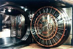 I have always found bank vault doors  fascinating