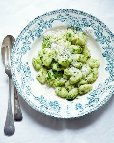 Ramps are in season! Gnocchi with Ramp Butter and Parmesan Cheese from Kitchen Repertoire