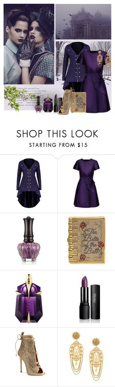 """""""winter look"""" by art-gives-me-life ❤ liked on Polyvore featuring Raoul, Anna Sui, Judith Leiber, Thierry Mugler, Giuseppe Zanotti and Dolce&Gabbana"""