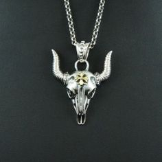 WATER BUFFALO 925 STERLING SILVER Men's Women's BIKER ROCKER PENDANT