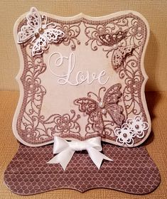 Crafter's Companion Supplies Die'sire Create a Card - Butterfly Easel Signature Collection Rustic Wedding Die Cut - Love Signature Collection Rustic Wedding Paper Pad Sheena Sparkle Pens Signature Collection Glamour White Pearls Birthday Cards For Women, Handmade Birthday Cards, Fancy Fold Cards, Folded Cards, Die Cut Christmas Cards, Crafters Companion Cards, Embossed Cards, Easel Cards, Vintage Cards