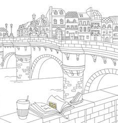 France Coloring Travel Book Coloring Pages To Print, Coloring Book Pages, Printable Coloring Pages, Coloring Pages For Kids, Coloring Sheets, Colouring, Mural Art, Stencil, Crayon