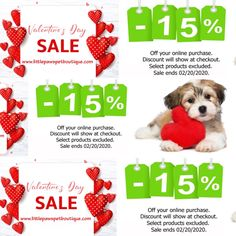 Sweet Savings with our Off Valentines Day Sale. Pet Boutique, Valentines, Pets, Sweet, Valentine's Day Diy, Velentine Day, Valentine's Day, Valentine Craft, Animals And Pets