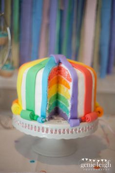 Rainbow Cake~ Happy Birthday to Cassie Neilson <3 I love u... Ur sooo cute :D im sooo glad I met u and I wish I was ur friends cuz ur really cool :D