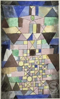 Stock Photo: 866-5026 Composition with Triangles   1918  Paul Klee (1879-1940 Swiss)   Christie's Images, London, England