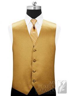 V label gold dress vest Gold Tux, Gold Vests, Gold Bow Tie, Mens Attire, Groom Attire, Groom And Groomsmen, Sweet 16 Dresses Gold, Sweet Dress, Wedding Men