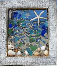 Mermaid Sea Glass Window by beachcreation on Etsy