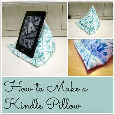 Sewing Pillows An easy tutorial for how to make a triangular pyramid Kindle pillow. No pattern required and no fiddly triangles! Step by step instructions with pictures. Sewing Hacks, Sewing Tutorials, Sewing Crafts, Sewing Projects, Sewing Patterns, Diy Crafts, Sewing Pillows, Diy Pillows, How To Make Pillows