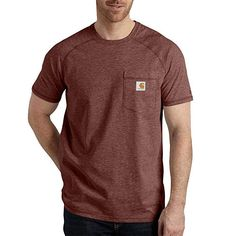 5fa1e2a67aba Carhartt Men s Force Cotton Short Sleeve T-Shirt Relaxed Fit  tshirts  Heather Gray