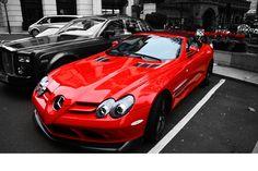 Red McLaren SLR Roadster