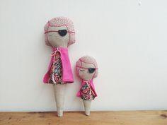 hand crafted Irish made Linen Cloth Dolls
