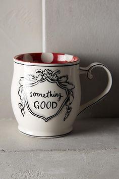 Crowned Leaf Mug - anthropologie.com