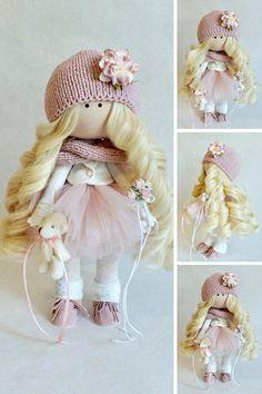 Fabric doll Handmade doll Puppen Muñecas Soft doll Tilda doll