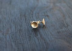 14k gold stud earrings. Gold stud earrings. by JaneFullerDesigns