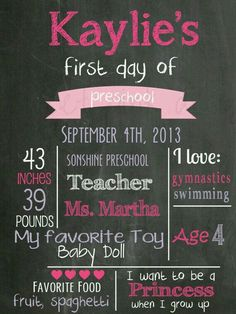 1 St day of school ideas