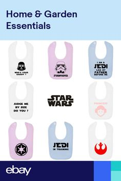 Star Wars Clothing FREE P/&P Star Wars Funny Baby Bib Many Designs and Colours