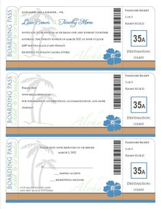 Free Printable Boarding Pass | Two Blank Airline Boarding Pass ...