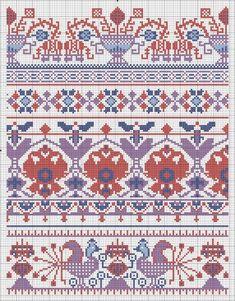 Старинные схемы для вышивки: Орнаменты. Реклама Т-ва Брокар и Ко