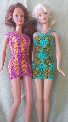 These cheerful little sundresses combine modern styling with a retro flair for a fun and colorful fashion statement. Both dresses are quick and easy to crochet, using size 10 crochet cotton thread. You will receive a PDF download for each dress, with detailed written instructions and pictures of the finished project.