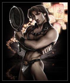 Flynn Rider. Disney Heroes by David Kawena.