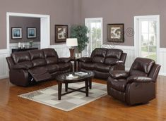 Valencia Brown Recliner Leather Sofa Suite 3+2 Seater Brand New 12 Months warranty FREE DELIVERY---649.99---
