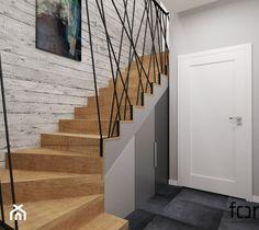 Stair Railing Design, Iron Stair Railing, Home Stairs Design, Stair Handrail, Interior Stairs, Home Room Design, House Design, Staircase Storage, House Staircase