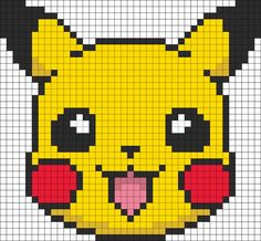 Pokemon Craft & Fun Activities Pikachu Hama bead pattern like if you played some of the first generations games.Pikachu Hama bead pattern like if you played some of the first generations games. Fuse Bead Patterns, Kandi Patterns, Perler Patterns, Beading Patterns, Beading Tutorials, Bracelet Patterns, Pikachu Pikachu, Pika Pokemon, Pokemon Faces