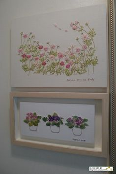 Diy Embroidery Patterns, Hand Embroidery Art, Free Machine Embroidery, Ribbon Embroidery, Floral Embroidery, Cross Stitch Embroidery, Embroidered Cushions, Botanical Art, Textile Art