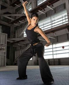 Priyanka Chopra, trained in Gatka, a style of stick fighting developed by the Sikhs of the Punjab region.