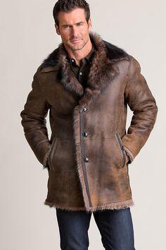 New Xander Distressed Toscana Sheepskin Coat online - Looknewclothing