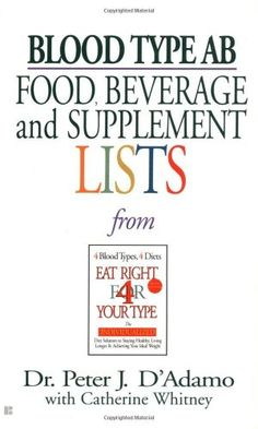 Bestseller Books Online Blood Type AB Food, Beverage and Supplemental Lists Peter J. D'Adamo $5.99  - http://www.ebooknetworking.net/books_detail-0425183106.html