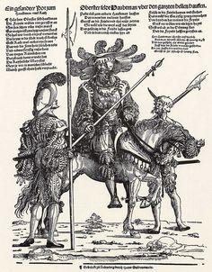 Artist: Flötner, Peter, Title: Der Feldhauptmann und zwei Knechte, Date: ca. 1535