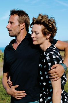 An icon and an handsome man. Tilda Swinton, A Bigger Splash