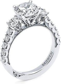 Tacori 3 Stone Round Brilliant Diamond Engagement Ring 312RD