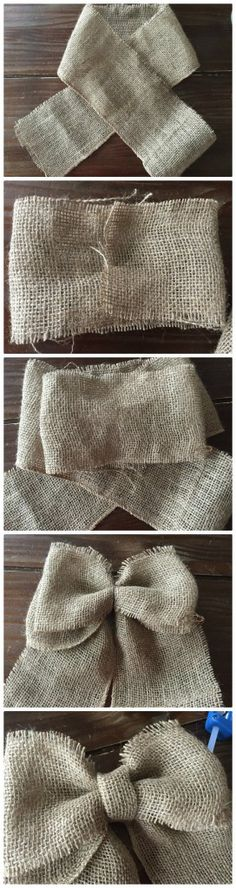How to make a burlap bow #crafts