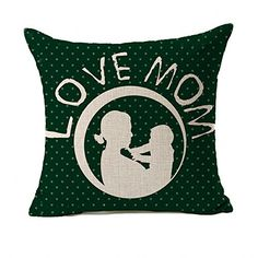 4TH Emotion Happy Mothers Day Home Decor Throw Pillow Case Cushion Cover 18 x 18 Inch Cotton LinenLove Mom * You can find out more details at the link of the image. Note: It's an affiliate link to Amazon