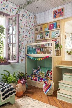 Baby Bedroom, Kids Bedroom, Paisley Bedroom, Interior Room Decoration, Home Decor, Childrens Toy Storage, Design Your Dream House, Playroom Design, Nursery Room Decor