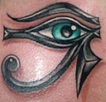 """Eye of Horus tattoo """"This is really pretty"""""""