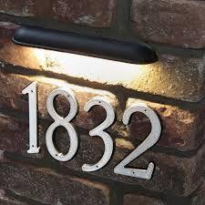 LIGHT TO ILLUMINATE HOUSE SIGN ON BRICK WALL - Google Search