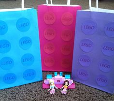 Girl Lego Friends Favor Bags