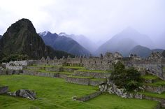 Looking south to Huayna Picchu from the Sacred Plaza